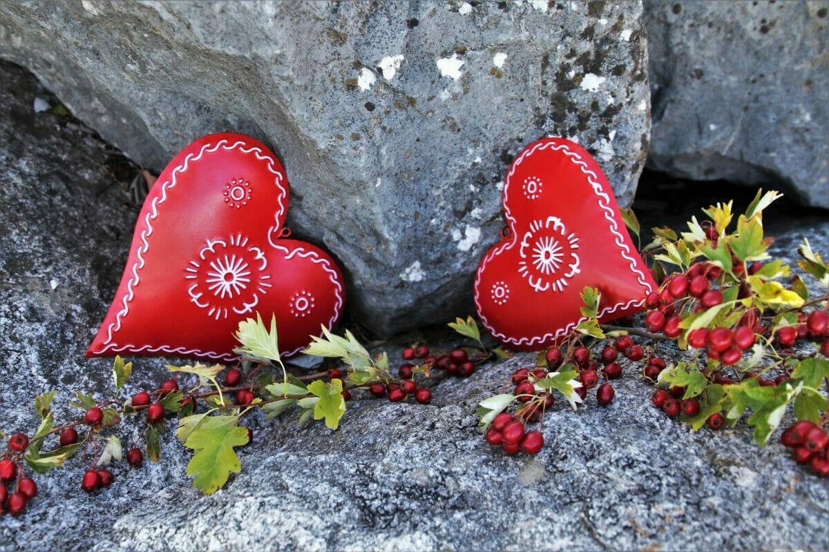 punaiset sydämet
